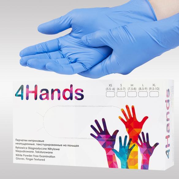 4Hands нитриловые перчатки