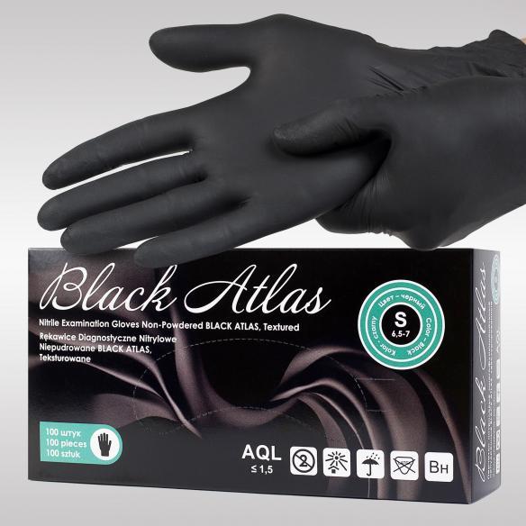Black Atlas черные нитриловые перчатки
