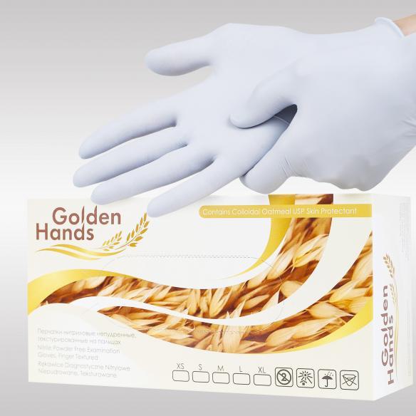 Golden Hands нитриловые перчатки с уникальным составом