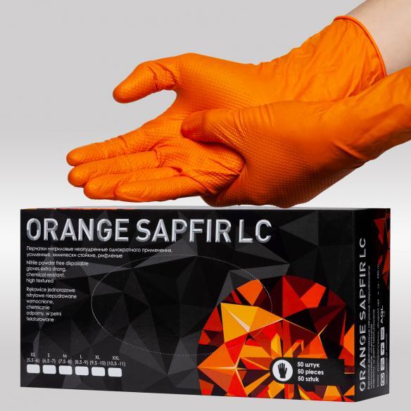 Orange Sapfir LC нитирловые перчатки усиленные, удлиненная манжета К20Щ20